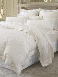 Deep king size bed sheets. I would never leave this bed!