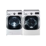 LG 5.1 cu. ft. Mega-Capacity Steam Front-Load Washer and 9.0 cu. ft. Mega-Capacity Steam Dryer - Appliances - Washer and Dryer Sets - Washer and Dryer Bundles