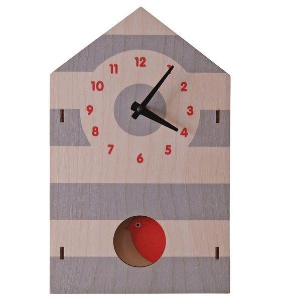 Часы с маятником «Скворечник» | WooBee