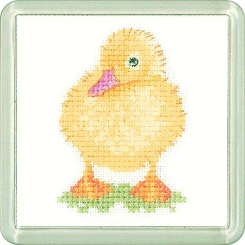 Duckling Coaster Kit - Heritage Crafts cross stitch kit
