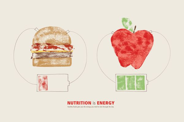 Nutrition is... by Robin Montgomery, via Behance
