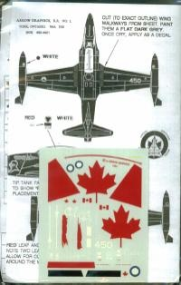 """1/72 CT-133 SILVER STAR. 414 """"BLACK NIGHT""""Squadron, Markings the Silver Star's Years of Service with the RCAF and CAF"""