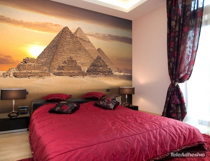 Fotomurales piramides de giza arquitectura decoraci n - Fotomurales habitacion juvenil ...