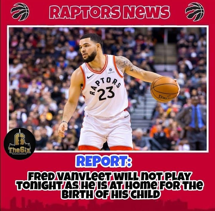 REPORT: Fred Vanvleet was excused from the team today to be sent home for the birth of his child. He will not play in tonight's game. . . . . #warriors #nba #basketball #nyknicks #knicks #raptors #torontoraptors #celtics #bostonceltics #sixers #philadelphiasixers #nets #lbj #playoff #heatnation #letsgoheat #ilovethisgame #slam #court #myteam #rockets #ballers #buckets #baloncesto #streetball #ballup #nbamemes #pelicans #hornets #mavericks