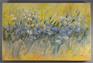 """Obraz """"Niebieski szereg"""", nr katalogowy 574 - KRUKART"""