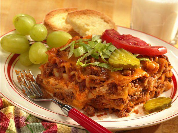 Yum! Check out our Cheeseburger Lasaga....the family just loves it!  More at: MyLasagnaRecipe.com  #Lasagna