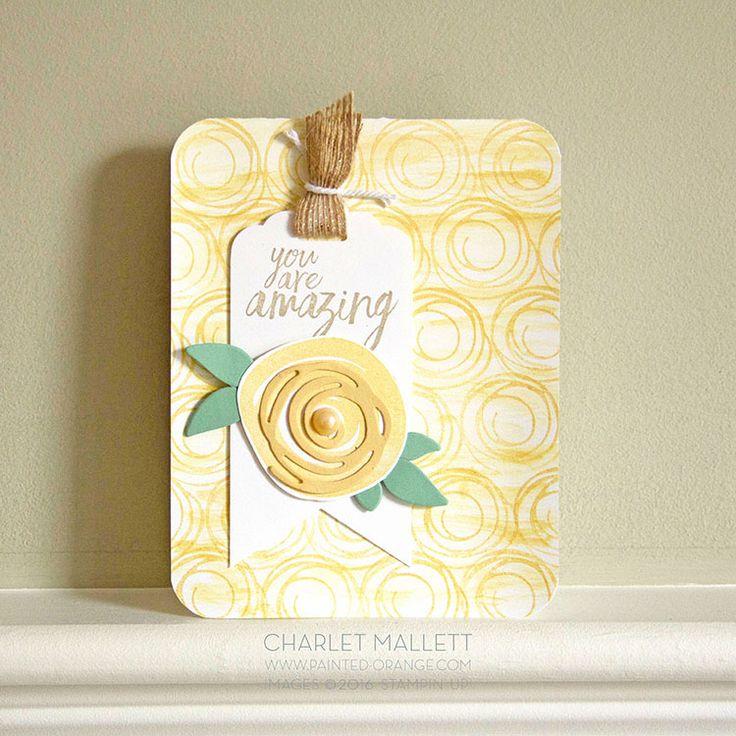 Stamp Review Crew - Swirly Bird — Painted Orange