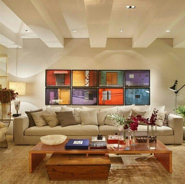 Quadros Para Sala De Estar Simples ~ Quadros coloridos sala de estar  Quadros  Pinterest  Pesquisa