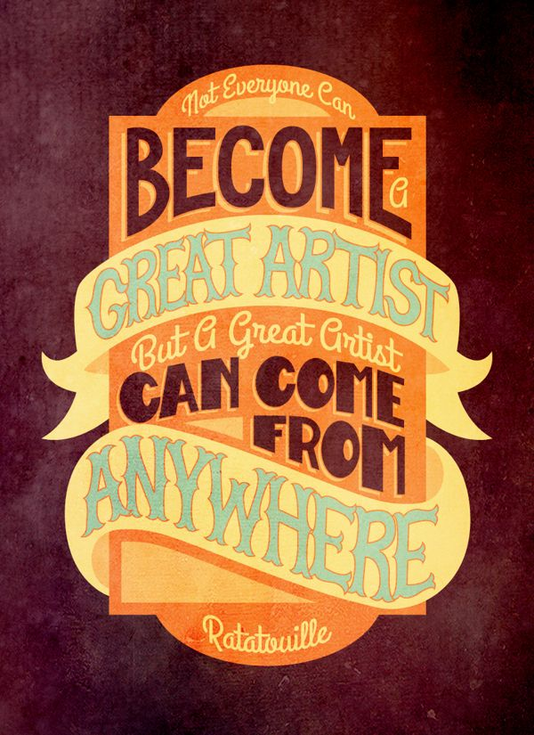 Pixar Typography Booklet by Rachel Krueger, via Behance -- Love the quotes, love the design, heck, love the movies too ;-)
