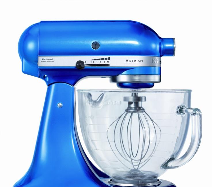 Kitchen aid 5ksm156beb artisan food mixer blue with