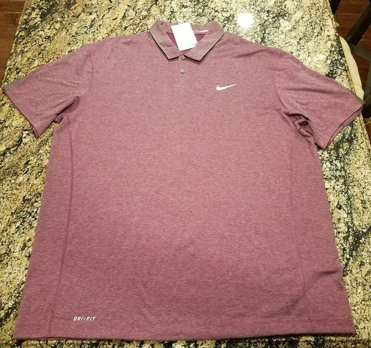Nike Tiger Woods TW Collection Ultra Golf Polo $110 Purple 685859-563 Sz XL #TigerWoods #PoloRugby