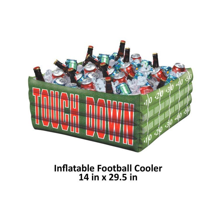 Superbowl party inflatable buffet cooler, Super Bowl 52, football theme, blow up drink station, table decorations, tail gate, sports party