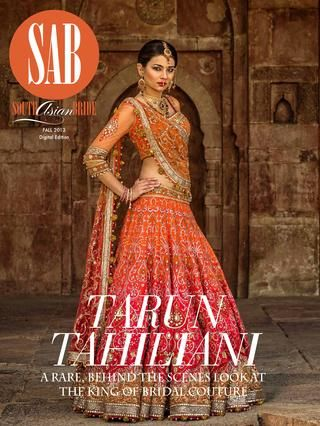 Tarun Tahiliani lengha. South Asian Bride Magazine