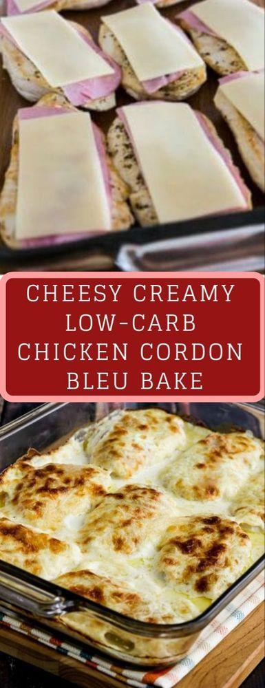 CHEESY CREAMY LOW-CARB CHICKEN CORDON BLEU BAKE Cheesy Creamy Low-Carb Chicken C…
