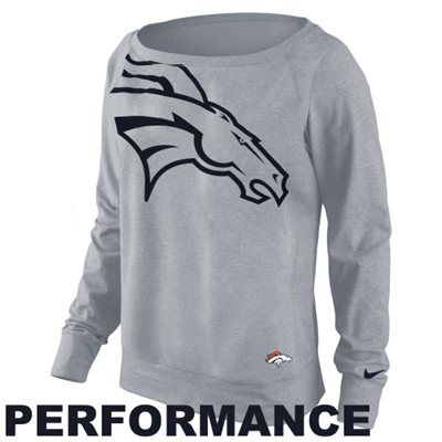 Nike Denver Broncos Ladies Wildcard Epic Crew Sweatshirt - Ash