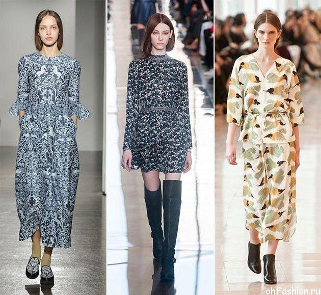 растительные принты - модные принты сезона осень/зима 2014-2015