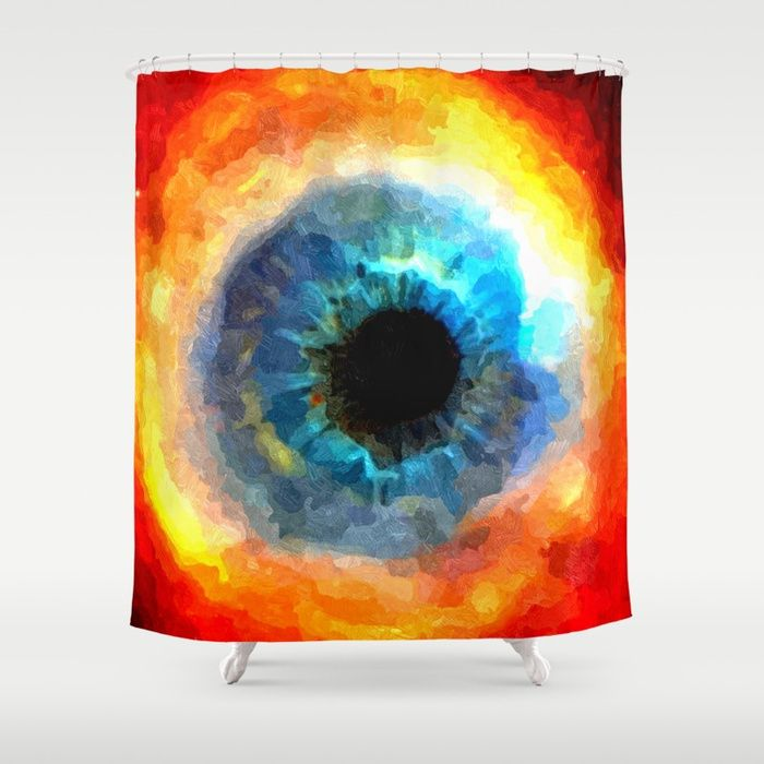 "The Eye of Evil, demonic looking galaxy, nebula, beauty of deep space, rich colors Customize your #bathroom decor with unique shower #curtains designed by artists around the world. Made from 100% polyester our designer shower curtains are printed in the USA and feature a 12 button-hole top for simple hanging. The easy care material allows for machine wash and dry maintenance. Curtain rod, shower curtain liner and hooks not included. Dimensions are 71x74"" #society6 #shower"
