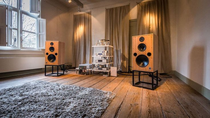 High end audio audiophile music listening room  Harbeth
