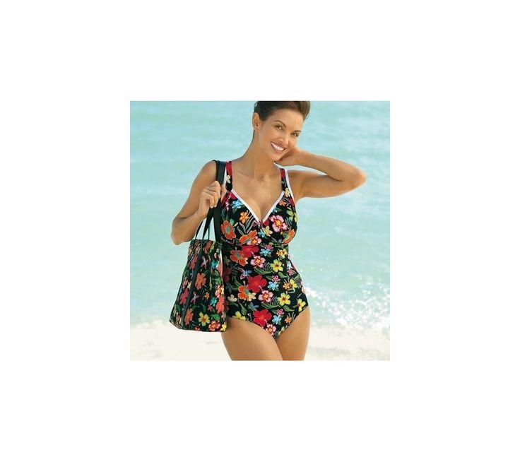 Jednodílné plavky s lemováním, vyšší postava | vyprodej-slevy.cz #vyprodejslevy #vyprodejslecycz #vyprodejslevy_cz #swimsuit