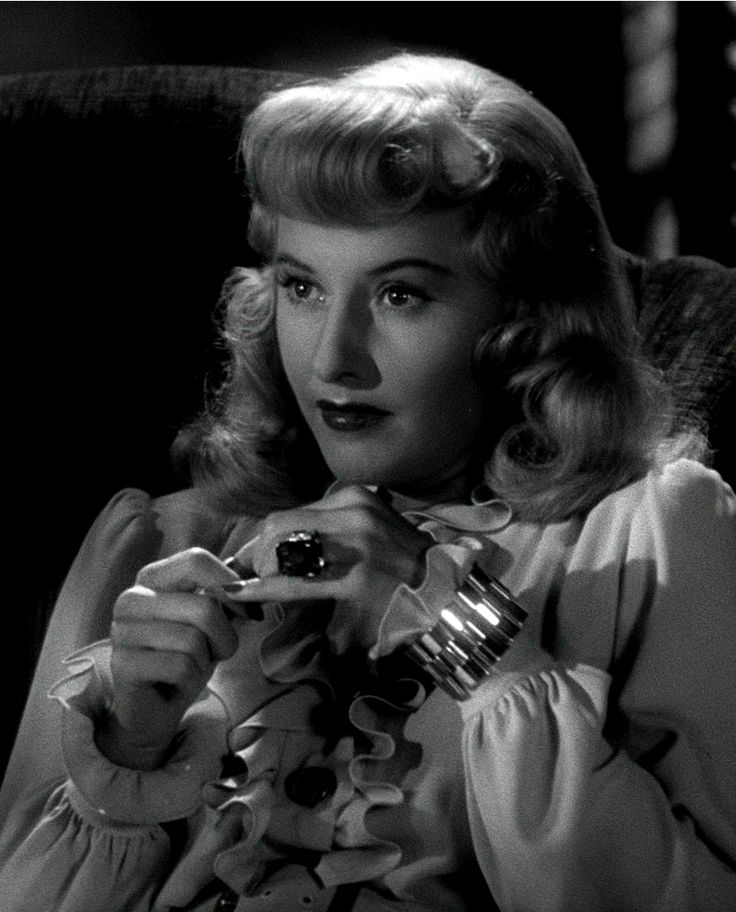 "Film noir: Barbara Stanwyck - ""Double Indemnity"" (1944)                                                                                                                                                      More"