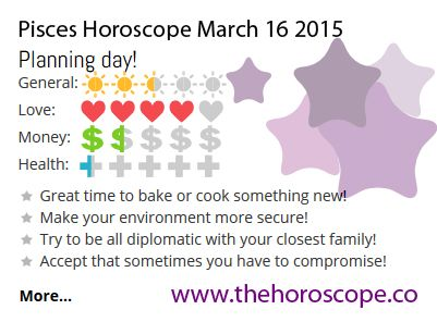 Planning day for #Pisces on March 16th #horoscope ... http://www.thehoroscope.co/horoscope/Pisces-Horoscope-today-March-16-2015-2615.html