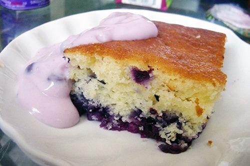 Pouding aux bleuets facile #recettesduqc #dessert #bleuet
