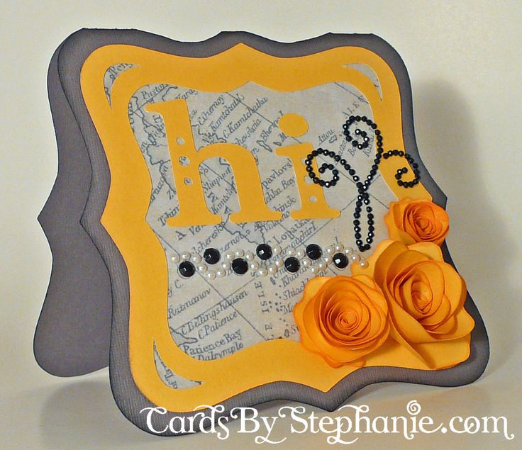 "Yellow and Grey ""hi"" Rose Card, made with the Cricut Art Philosophy Cartridge from Close to My Heart #CTMH: Artists Cards, Cricut Art, Cartridges Cards, Cards Ideas, Cricut Cards, Cards Tags Ideas, Cards Cards, Cricut Cartridges, Art Philosophy"
