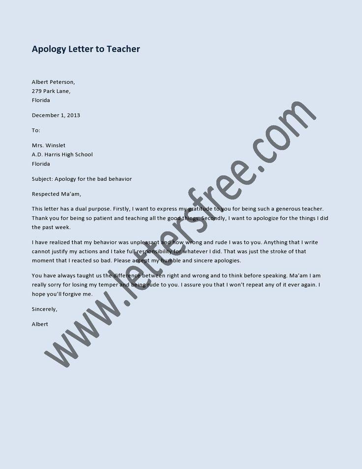 Besten Sample Apology Letters Bilder Auf