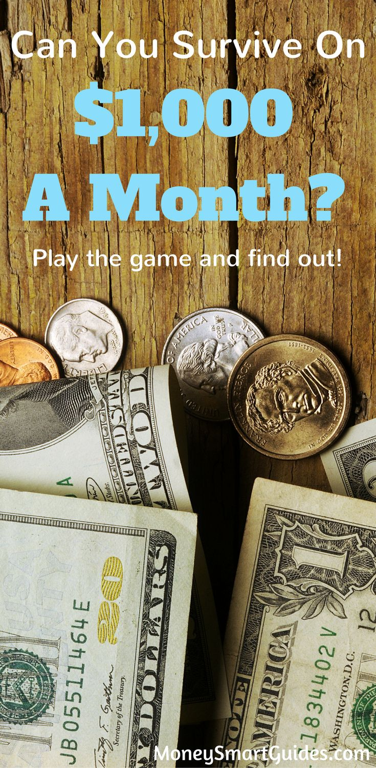Can You Survive On $1,000 A Month? Play the game and see how long you money lasts. Then learn new ways to save money and get out of debt.