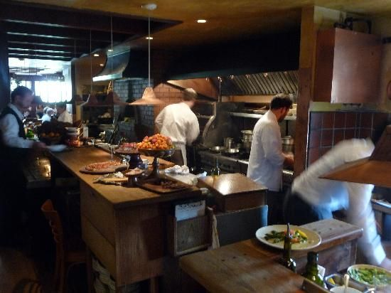 Chez Panisse: view of the upstairs kitchen area (19578515)
