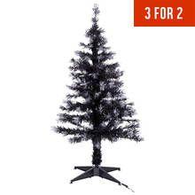 HOME 4ft Fibre Optic Christmas Tree – Black