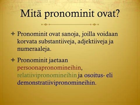 Pronominit - YouTube