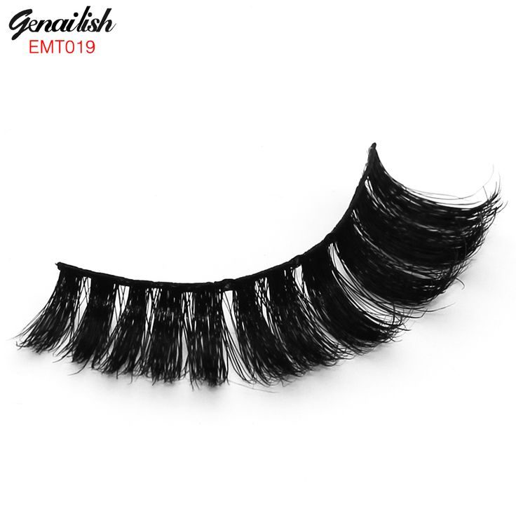 1 Pair/Set Horse Hair False Eyelashes 100% Handmade with High QualitySuper Thick Long Eye Extension for Makeup-EMT019