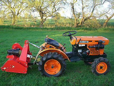 Kubota B5001 Compact Mini Tractor With New Flail Mower