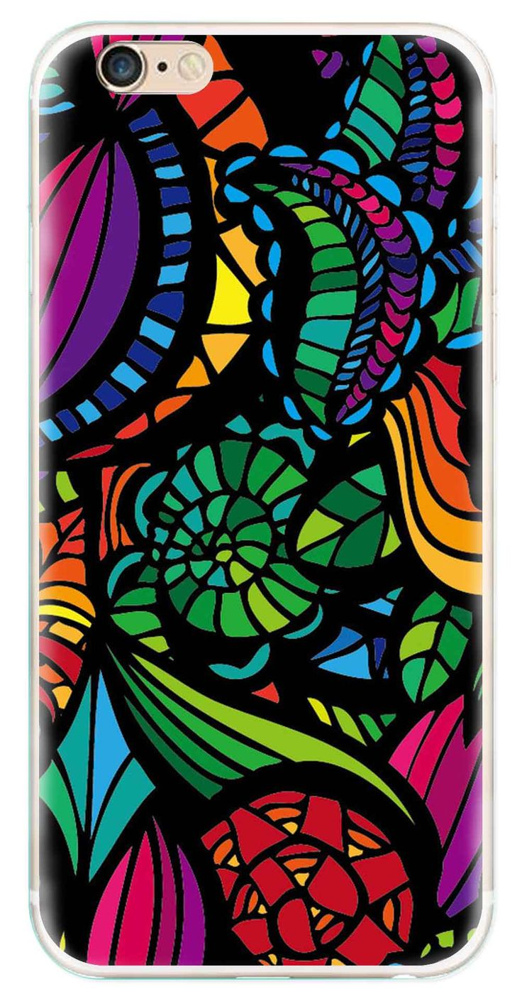 Whatskin DIY Style Colored Painting Series 02 Clear Back Cover for iphone 6