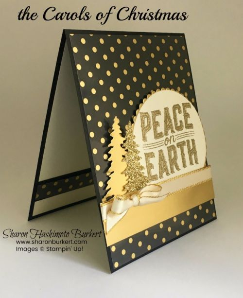 Welcome to the Carols of Christmas blog hop! We are all showcasing the beautiful Carols of Christmas stamp set and the Card Front Builder thinlit dies. These two products were available as pre-order