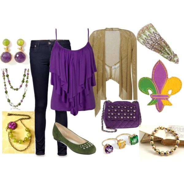 a touch of mardi gras outfit