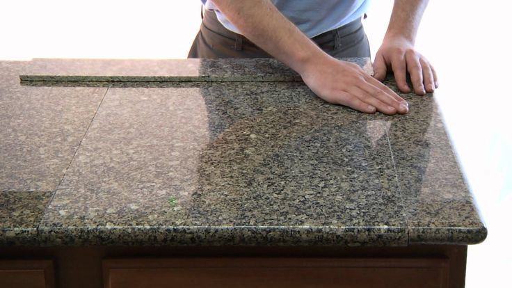 Lazy Granite Tile for Kitchen Countertops is a low cost alternative to slab granite for kitchen counters. It's much nicer than 12x12 tiles yet much last expe...