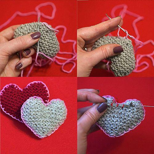 Knitting DIY: Mary-Heather Cougar's Heart Pins! #valentines #knitting #diy