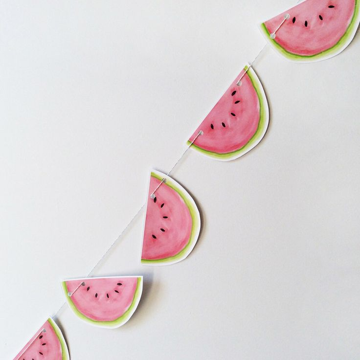 Garland of melons. tutti frutti birthday decoration party, baptism, baby shower, decorating room baby, decor photographer by MOMYboutique on Etsy https://www.etsy.com/listing/240941160/garland-of-melons-tutti-frutti-birthday