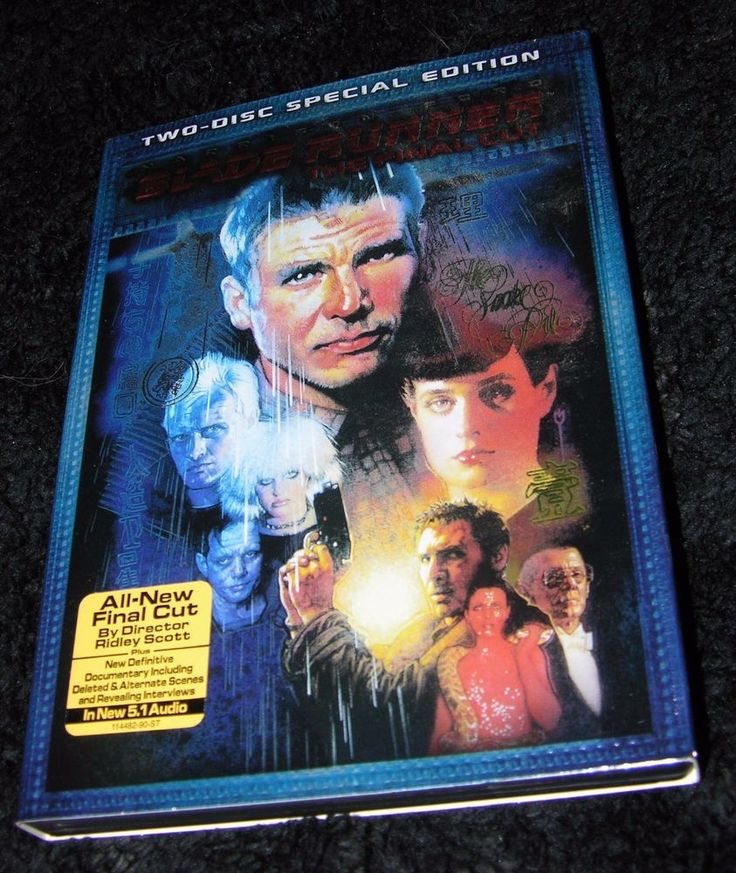 BLADE RUNNER THE FINAL CUT TWO DISC SPECIAL EDITION DVD HARRISON FORD CLASSIC