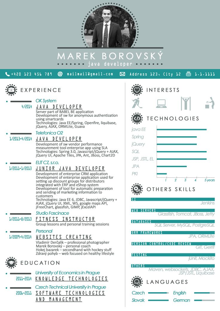resume  cv  template  graphics  javadeveloper  developer  java  blue  icons  icongraphic