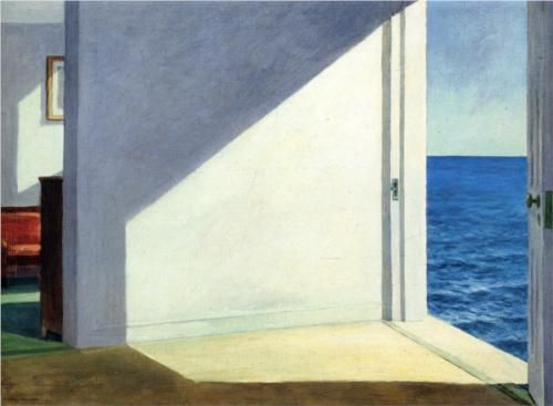 Rooms By The Sea - Edward Hopper. I love Edward Hopper. What he does with light is incredible.