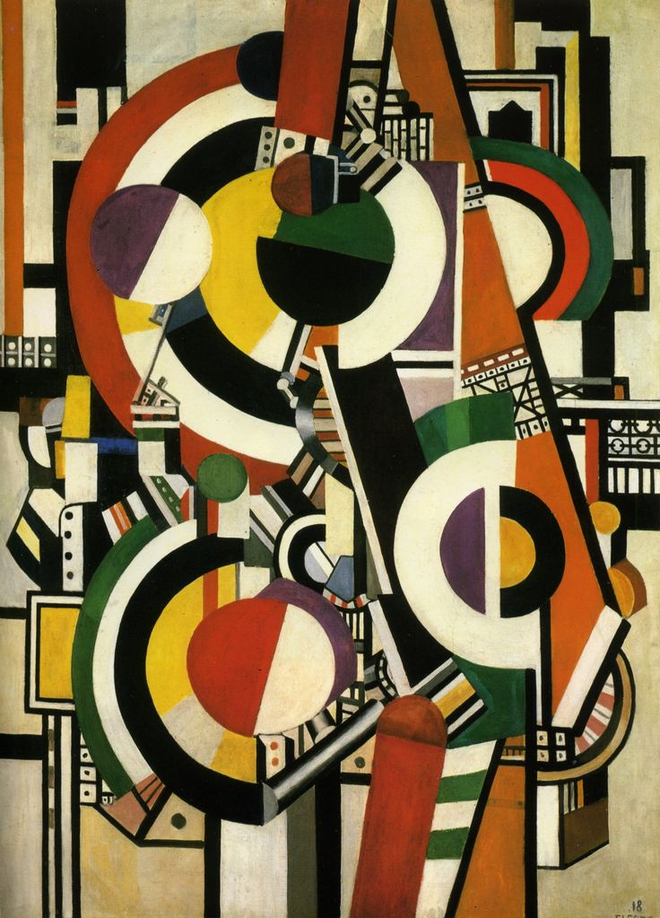 """Les Disques""  Fernand Leger 1918. Pivotal figure in early 20th century modernism. Contemporary of Mondrian, Delaunay, Picasso, influenced Stuart Davis, Roy Lichtenstein and many more."