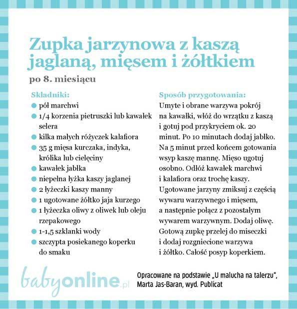Przepisy dla niemowlaka - Zupki dla niemowlaka | Strona 14 | Baby online