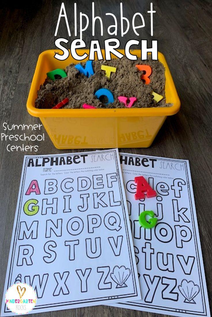 Summer Centers for Preschool