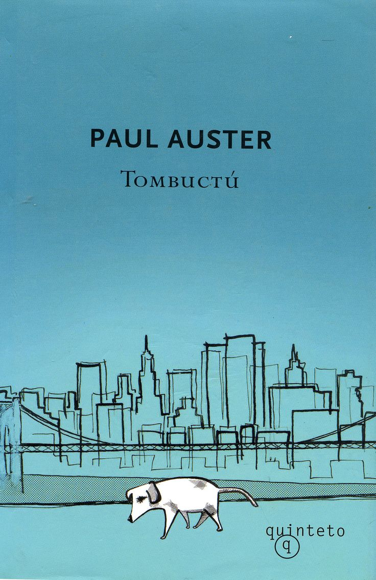Drawing for Paul Auster's Tombuctú. Spanish paperback published by Quinteto – Ink, 2007.