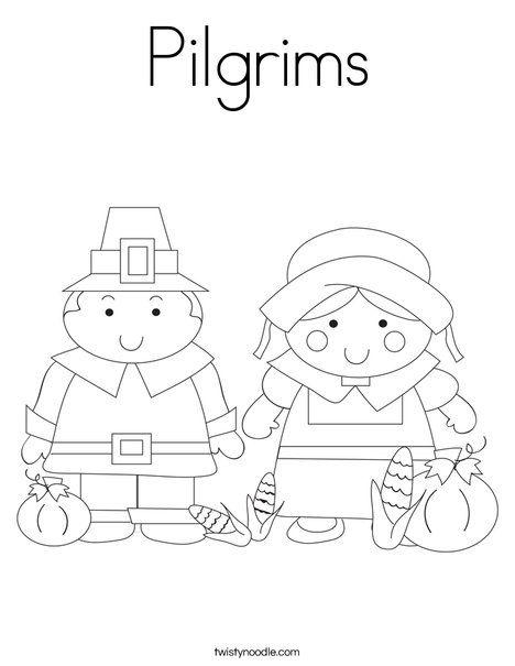 Pilgrims Coloring Page Twisty Noodle Thanksgiving Coloring Pages Coloring Pages Hello November