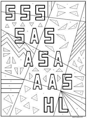 Triangle Congruence Coloring Activity Math Pinterest Math