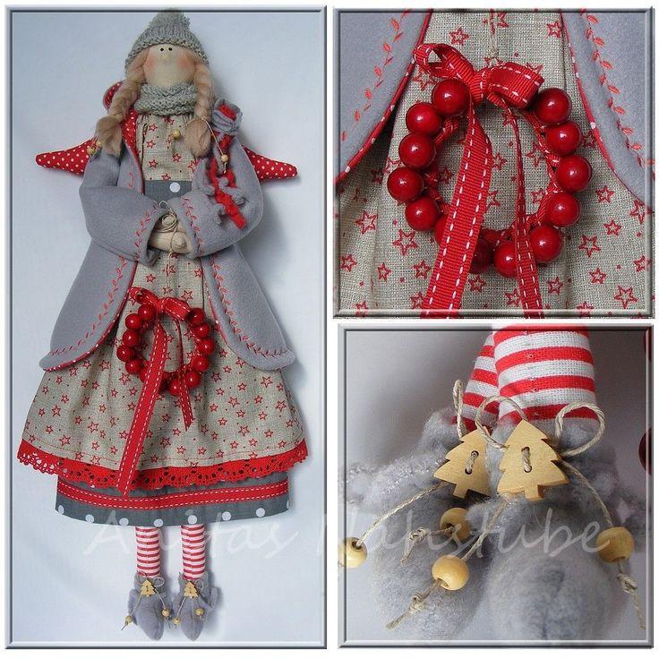 Engel ♥ Tilda -Stil ♥ Weihnachten ♥ Shabby Handarbeit ♥ Kranz in Möbel & Wohnen, Dekoration, Sonstige | eBay